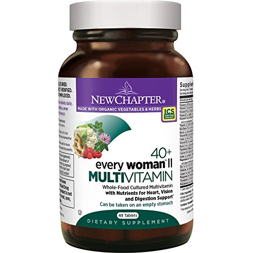 New Chapter Womens Multivitamin, Every Woman II 40+, Fermented with Probiotics + B Vitamins + Vitamin D3 + Organic Non-GMO Ingredients - 48 ct
