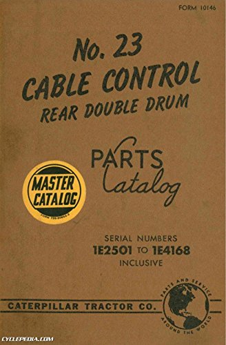 CAT-10146 Caterpillar No 23 Cable Control Rear Double Drum Parts (Control Cable Manufacturers)