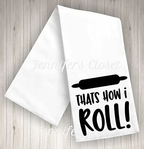 Amazon.com: That's How I Roll, Funny Kitchen towels, flour