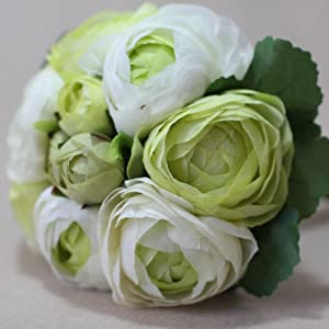 "Lily Garden 10.5"" Silk Camellia Bouquet Wedding Decor Flowers 55"