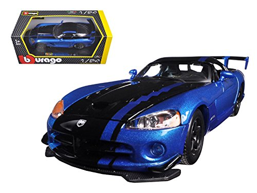 StarSun Depot Dodge Viper SRT/10 ACR Blue/Black 1/24 Model Car by Bburago