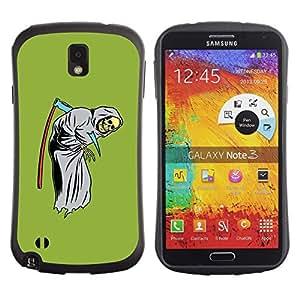 Paccase / Suave TPU GEL Caso Carcasa de Protección Funda para - Green Funny Grim Reaper Scythe Skull - Samsung Note 3 N9000 N9002 N9005