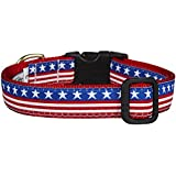 Up Country Stars and Stripes Dog Collar - Large
