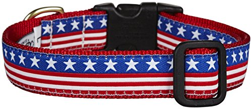 Up Country Stars and Stripes Dog Collar, Large 15-21