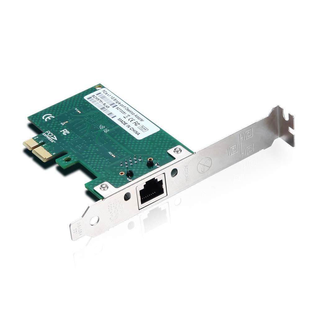 E1G42ET PCI Express 2.0 X1 ipolex for Intel 82576 Chipest Gigabit Ethernet Dual RJ45 Copper Port Server Adapter