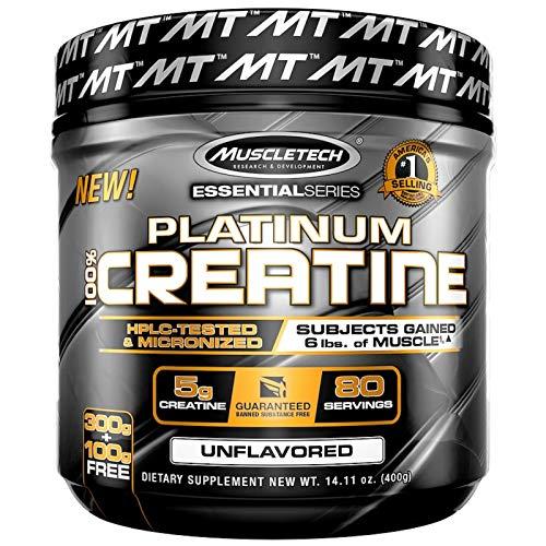 Creatine 100% Platinum Essential Series Unflavored 80 Servings 14.11 oz 400 g