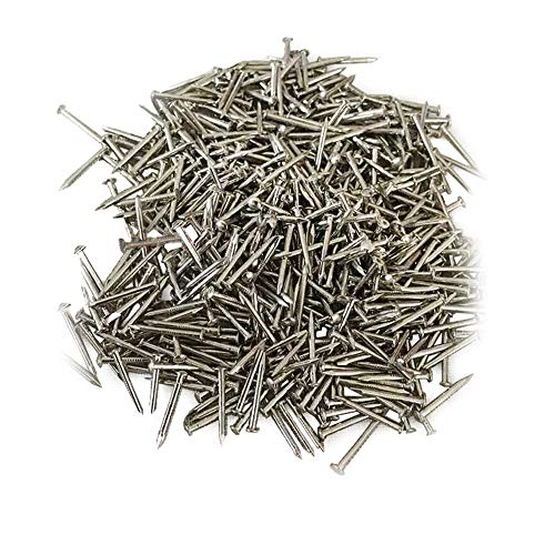 (Linwood Small Smooth Round Head Nails Multi-Purpose for DIY Decorative Pictures Boxes Household Accessories (2×13mm, Silver))