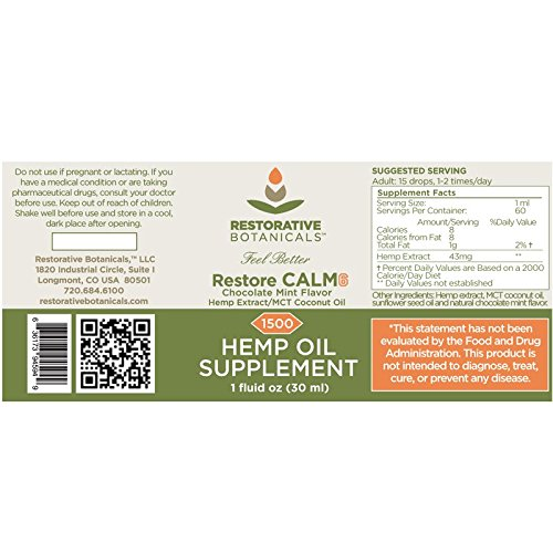 Restore-CALM6-Hemp-Oil-Extract-1800-mg-Advanced-Blend-Chocolate-Mint-1-ounce-30-ml-Restorative-Botanicals-supports-functional-calming-for-stress-relief-relaxation-healthy-sleep-patterns