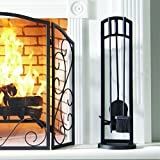 Pleasant Hearth Arched 4 Piece Fireplace Toolset