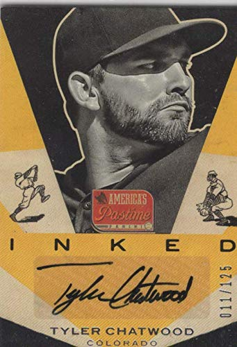 2013 Panini America's Pastime Inked Autograph- Tyler Chatwood- /125
