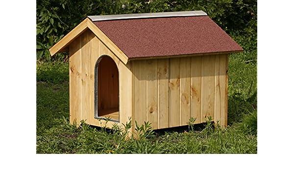 Caseta de madera para perros 85 x 110 x 110h: Amazon.es: Productos para mascotas