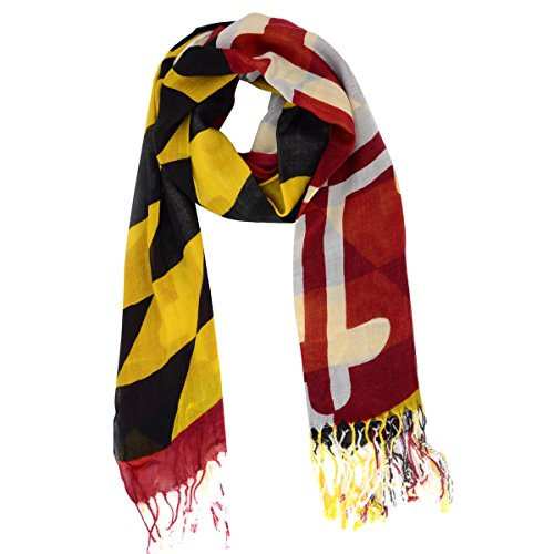 Maryland MD State Flag All Seasons Scarf Men's Women's Unisex America In Miniature