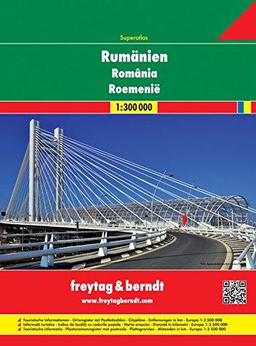 Rumänien - Moldawien, Autoatlas 1:300.000, Superatlas, freytag & berndt Autoatlanten