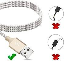 Quntis iPhone Cargador [2 Pack] 2m iPhone Cable Cargador Cable USB Tejido con Nylon,con Cabeza de Aluminio para iPhone ...