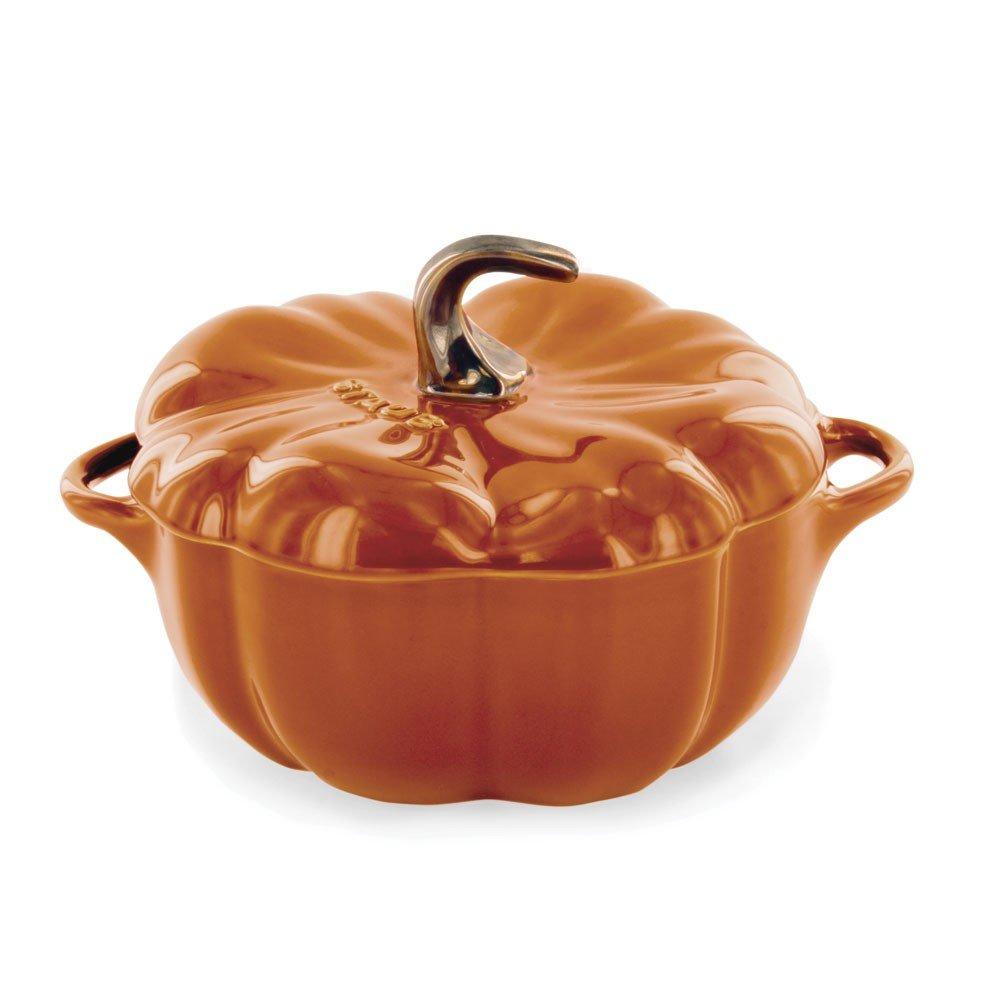 Staub 40511-555 Ceramics Petite Pumpkin Cocotte, 16-oz, Burnt Orange