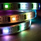 1m Addressable RGB LED Strip, 5V, 32 LED/m, Waterproof, WS2801 Full 24-Bit Color, 4-Pin JST-SM Connectors Pre-Soldered To Both Ends