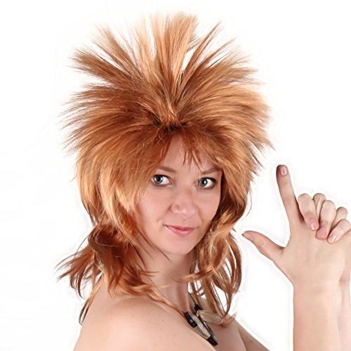 Halloween Costumes 80s Rocking Dude Wig Punk Metal