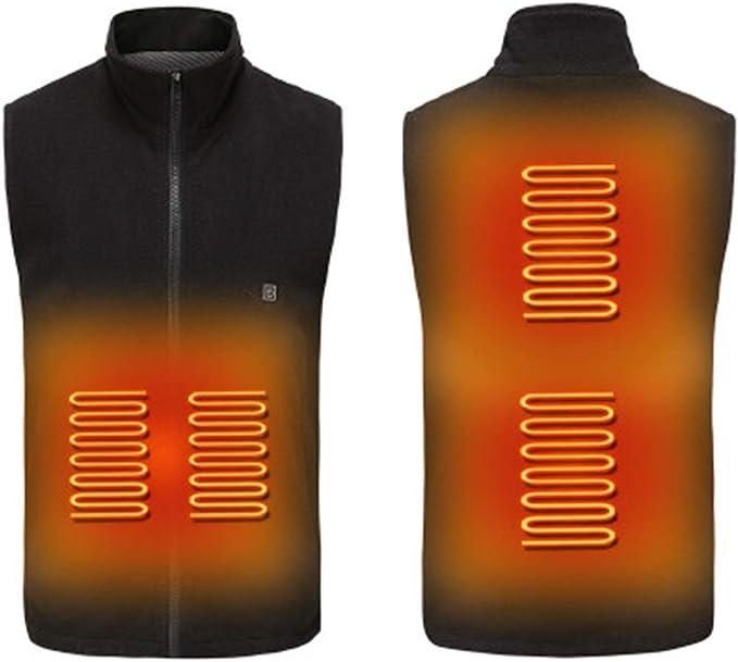 Beheizte Weste f/ür Herren Damen Sylanda Elektrische Beheizte Jacke USB-Lade Heizweste mit 3 Fakultativ Temperatur Waschbar Heizweste f/ür Motorrad Outdoor-Aktivit/äten Jagd Camping Skifahren