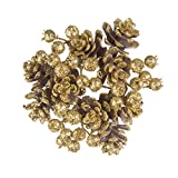 Darice Christmas Candle Rings with Pinecones Glitter Gold 4 Inches