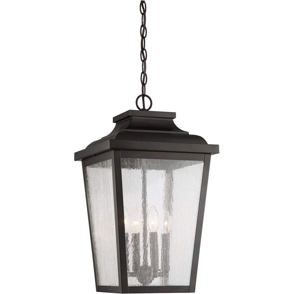 Minka Lavery Outdoor Pendant Lighting 72175-189 Irvington Manor, 4-Light 240 Watts, Chelesa Bronze