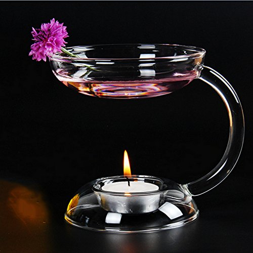 Aromatherapy Candles Incense Fragrance Oils (Glass Fragrance Oil Incense Burner Holder Candle Aromatherapy Oil Lamp for Spa Home Decoration)