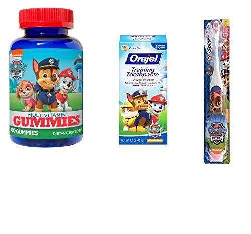 Paw Patrol Skye Healthy Kids Bundle- Toothpaste, Toothbrush and Vitamins by AMPossibilities