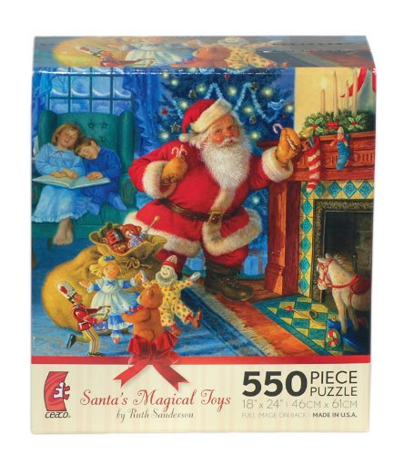 Santas Magical Toys by Ruth Sanderson 550 Piece Puzzle ceaco