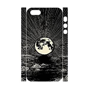 Custom Sun Moon Phone Case, DIY Sun Moon 3D Case for iPhone 5,5S