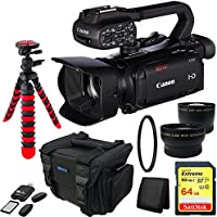 Canon XA30 Professional Camcorder + 64GB Memory Card + Deluxe Carry Case + Advanced Accessory Bundle