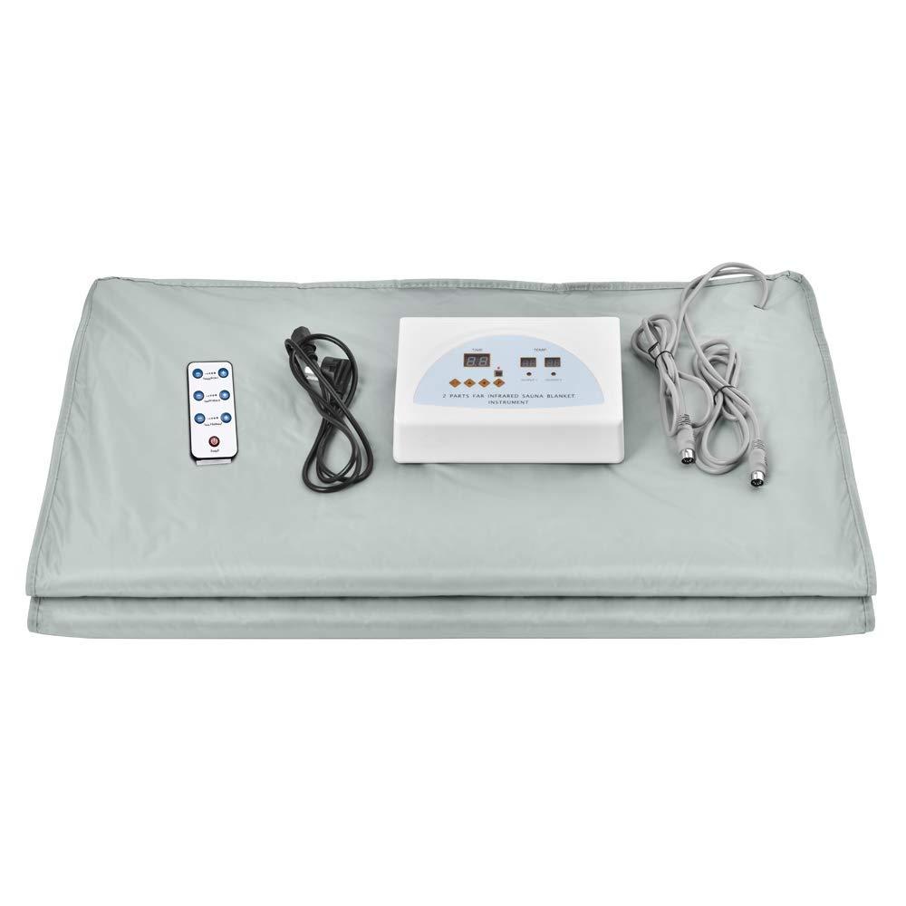 InLoveArts Body Shaper Gewichtsverlust Sauna Abnehmen Decke Digital Ferninfrarot (FIR) Wärme Sauna Decke 2 Zone Controller zur Gewichtsrotuzierung dünne Körper Home Beauty