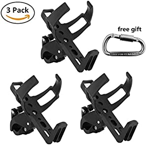 Swesy Mountain Road Bicycle Bottle Cage Adjustable Quick Release Bike Water Bottle Holder Rack (Pack of 3)