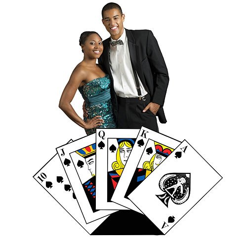 3 ft. 10 in. Hand of Cards Vegas Casino Standee Standup Photo Booth Prop Background Backdrop Party Decoration Decor Scene Setter Cardboard Cutout ()