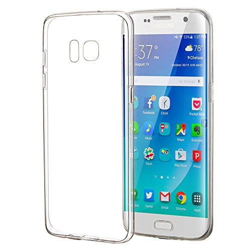 ELZO Case Compitable for Samsung Galaxy S7 Edge, [Crystal] Clear Ultra Thin Slim TPU Cellphone Cover, Transparent Shock Absorption Soft Skin Sleeve, Protective Flexible Rubber Gel/Silicone Shell