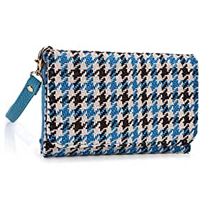 Kroo THL W7S Teal Blue and Brown Phablet Clutch with Hand Strap