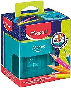 Maped Battery - Sacapuntas eléctrico con depósito27330: Amazon.es: Oficina y papelería
