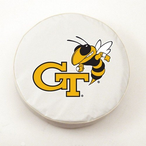 (Georgia Tech Yellow Jackets White Tire Cover, Small)