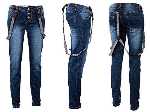 Store Bretelle Jeans Con Blanco Donna F8zOqzdw