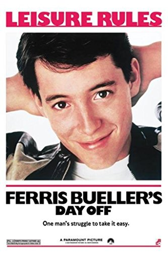 Ferris Bueller's Day Off, Movie Poster Print, 24 by 36-Inch