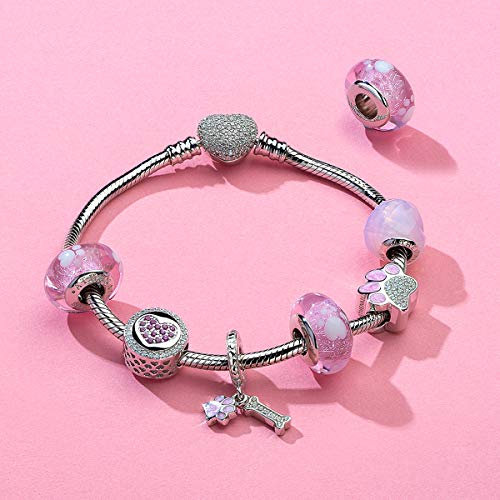 ATHENAIE Murano Glass 925 Sterling Silver Lovely Pet Paw Prints Charms Beads for Bracelet by ATHENAIE (Image #3)