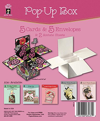 Pop Up Box Cards & Envelopes 5-sets per Pack HOTP3438 Hot Off the Press 3431