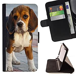 - Dog Cute Puppy Pet Paws - - Monedero pared Design Premium cuero del tir?n magn?tico delgado del caso de la cubierta pata de ca FOR HTC DESIRE 816 Funny House