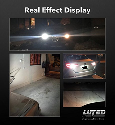 LUYED 2 X 1550 Lumens Extremely Bright Error Free 921 912 W16W 3030 24-EX Chipsets LED Bulbs Used For Backup Reverse Lights, Xenon White(Brightest backup light on the market) by LUYED (Image #4)