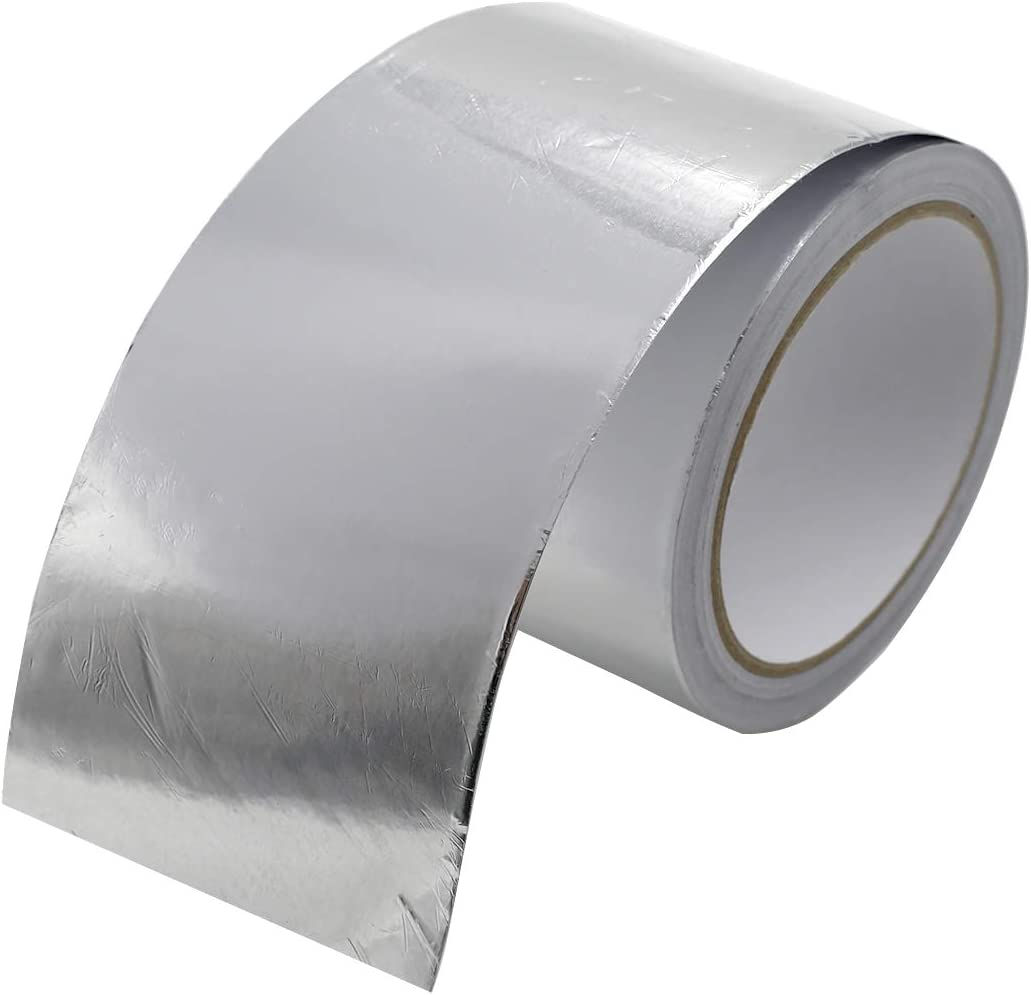 TUOREN Aluminum Foil Tape Reflective Duct Tape Silver for HVAC, Pipe Heating Cable Application, Sealing & Patching Hot & Cold Air Ducts, Metal Repair(3.15in x 21ft)-1pc