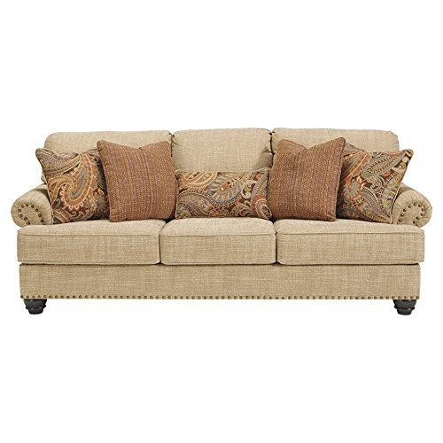 Amazon Com Benchcraft Candoro Casual Upholstered Sofa