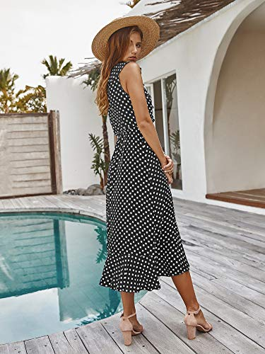 Floral Print Material: 95% polyester 5% spandex, soft smooth thin fabric, feel nice on skin. Long dress with sleeves, v neck, pockets, casual summer dress with split, loose fit maxi dress. Dress it up or down, nice for cruise, swimsuit cover. Perfect dress for beach, pool party, home relax, office.