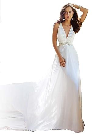 Jasongown Strapless Beach Wedding Dresses Simple Bride Dress Chiffon