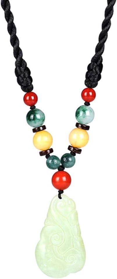 XINGYU Collar Corto para Mujer Folk-Custom Original Collar Corto Joyas Piedra Preciosa Natural Hecho A Mano Tallado Jade Colgante