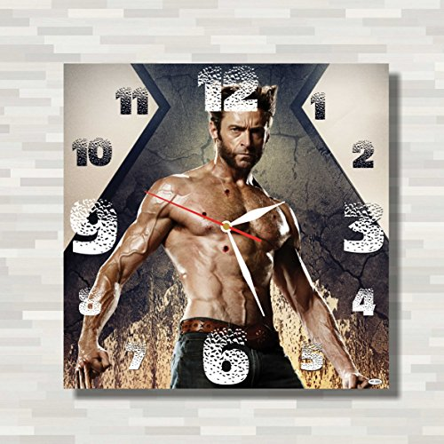 Logan - X-Men – Wolverine 11.4'' Handmade Wall Clock ( ACRYLIC GLASS ) - Get unique décor for home or office – Best gift ideas for kids, friends, parents and your soul mates