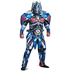 Disguise Men's Optimus Prime Movie Deluxe Adult Costume, Blue, X-Large