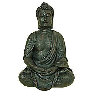 "The Global Chic Buddha Statue, Seated in Dhyanasana, Bas Relief Wall Sculpture, 16"" T, Museum Quality Reproduction, From the Serenity Collection by Whole House World"